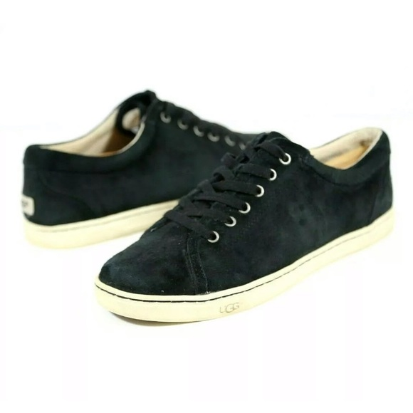 UGG TOMI BLACK SUEDE Casual Sneakers Womens 9 US